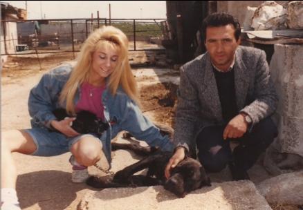 Kris Hodas with long-lost Sottile relative Corrado Bellapianta. Photo: M. Sottile