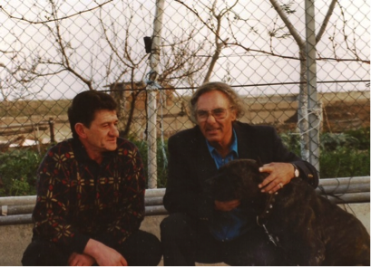 Michael Sottile Sr. (right) with venerable breeder Umberto Leone. Photo: M. Sottile