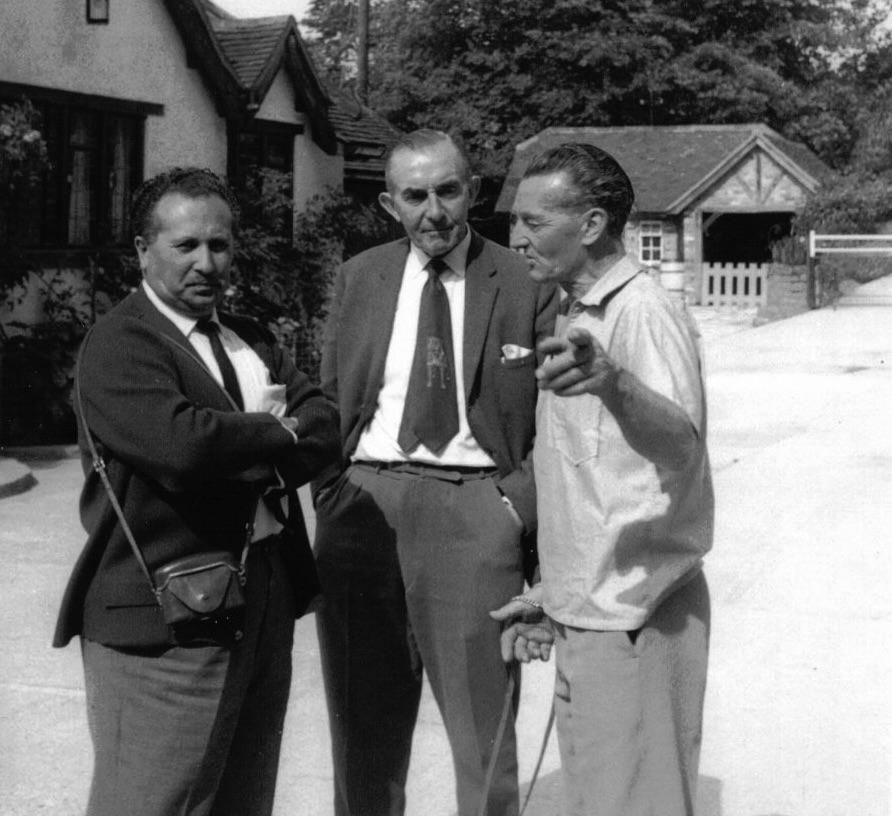 Harry Colliass (right) with Cyril Leeke of Bulmas (center).