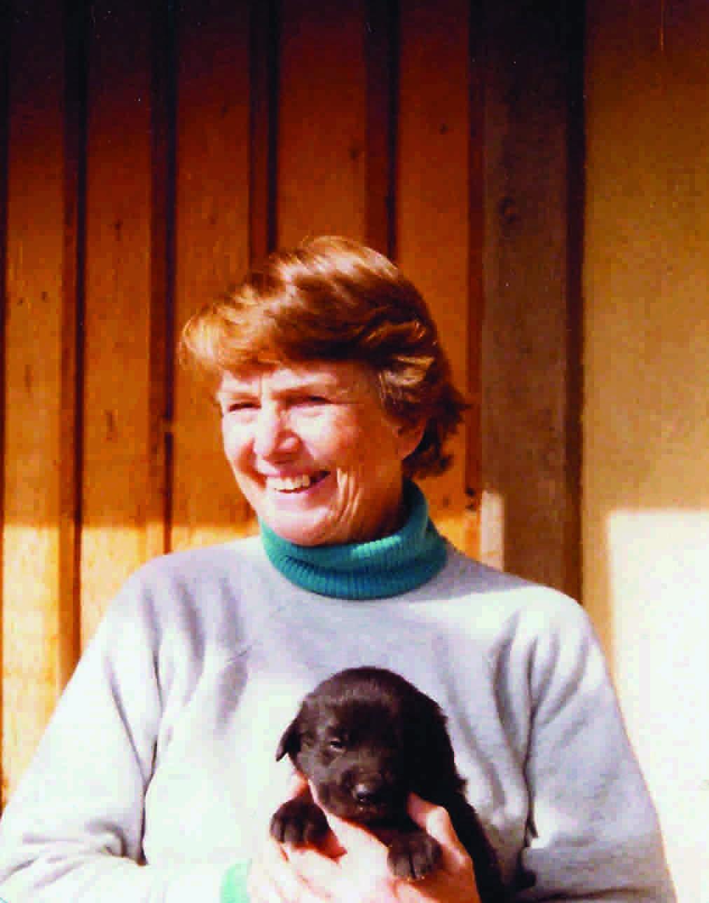 Tibetan Mastiff icon Ann Rohrer and puppy