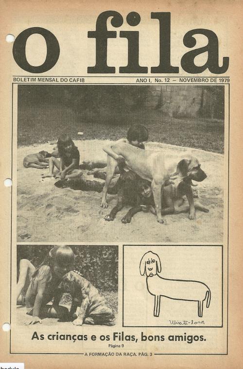 O Fila magazine, published by the Clube de Aprimoramento do Fila Brasileiro.
