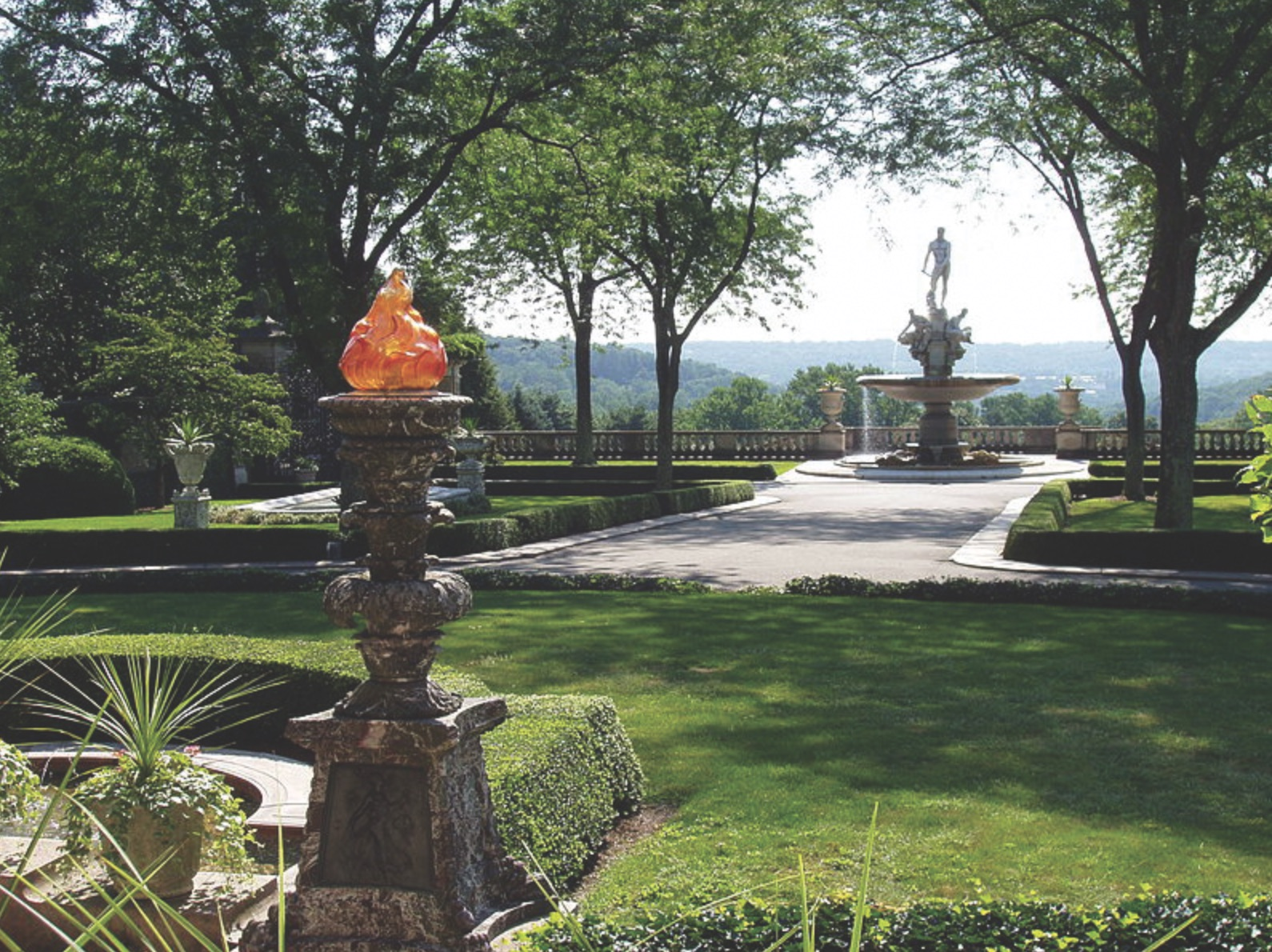 Kykuit was built on high ground, affording spectacular views of the Hudson River.