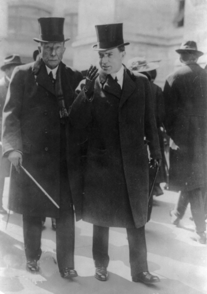 The two John D. Rockefellers – Senior (left) and his only son, Junior.