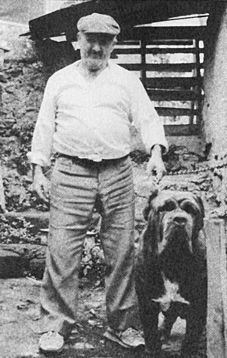 Another shot of Francesco Manno and his famous dog.